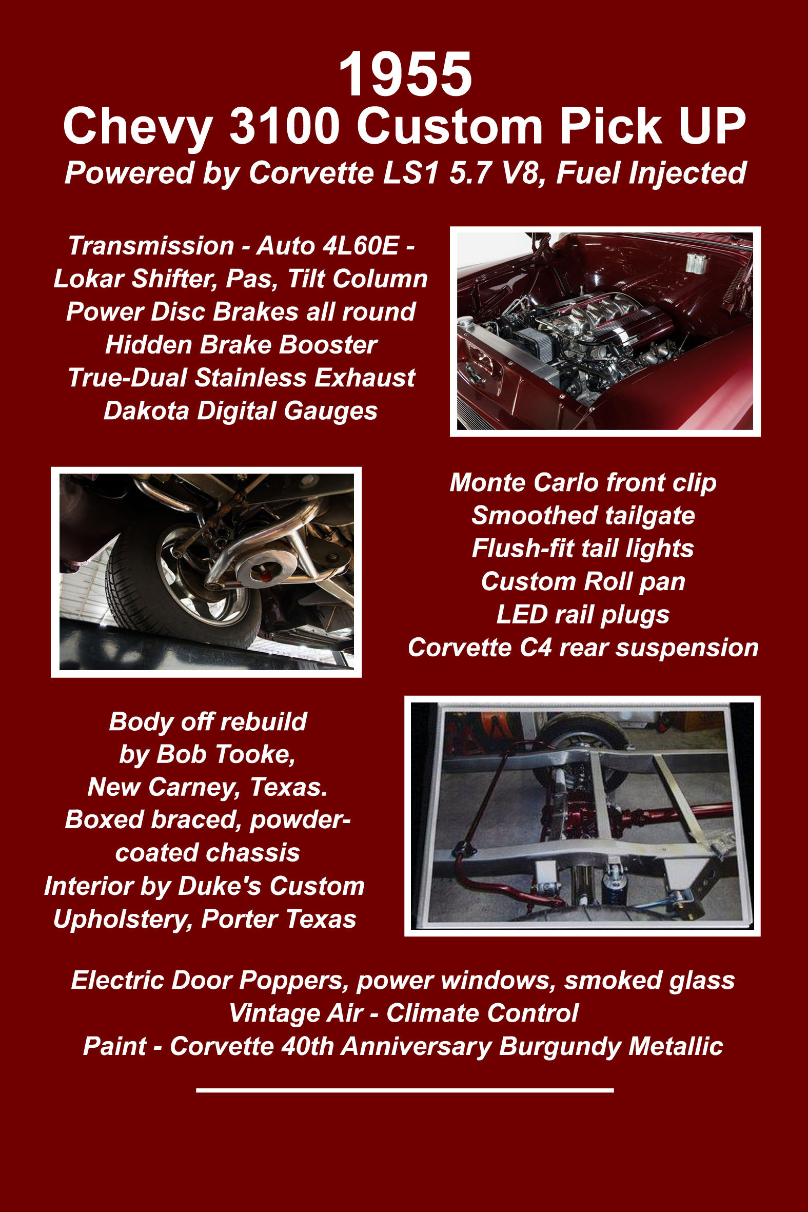 Chevy 3100 Truck 1955 Area 51 Ford F100 Rear Tail Lights View Image